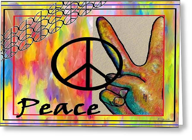 Peace In Every Color Greeting Card