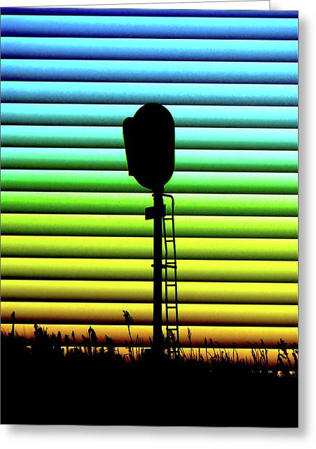 Signal At Dusk Greeting Card