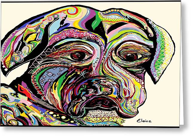 Colorful Boxer Greeting Card by Eloise Schneider