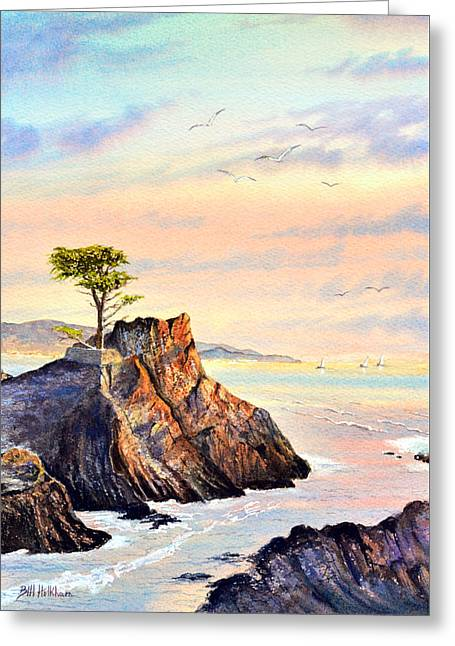 Lone Cypress Tree Pebble Beach Greeting Card