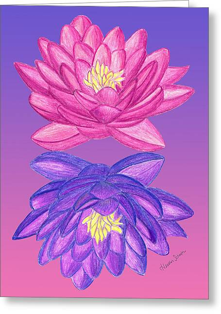 Sunrise Sunset Lotus Greeting Card