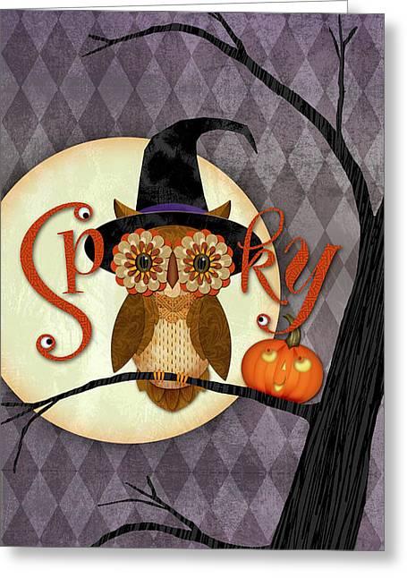 Spooky Owl Greeting Card