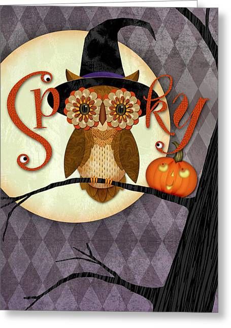 Spooky Owl Greeting Card