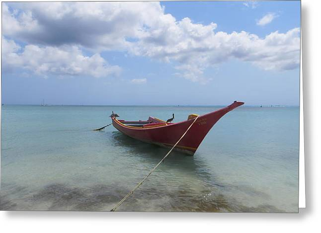 Greeting Card featuring the photograph Aruba by Jean Marie Maggi