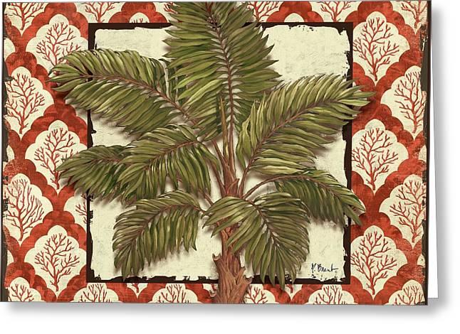 Aruba Palm I Greeting Card by Paul Brent