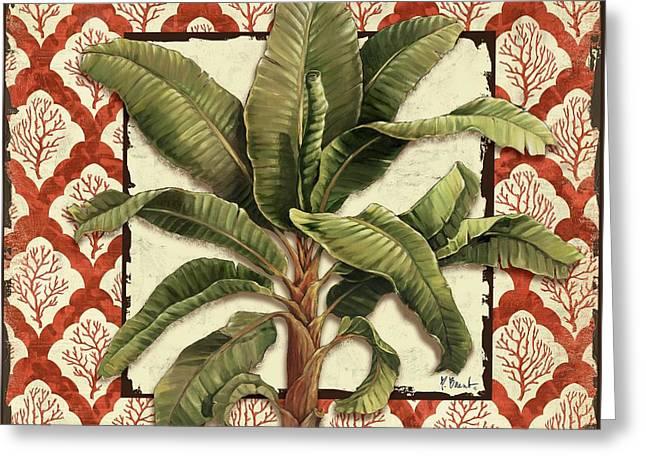 Aruba Palm II Greeting Card by Paul Brent
