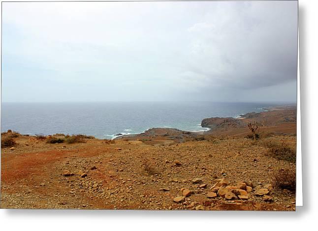 Aruba Rain Storm Greeting Card