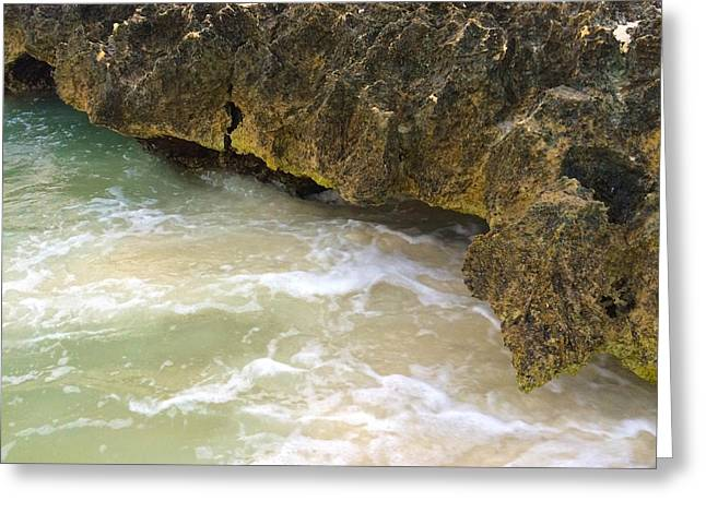 Aruba Rock Greeting Card by Carlo Conte