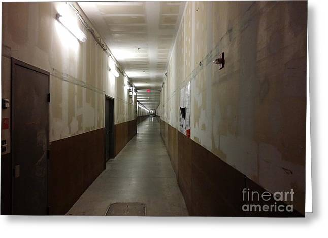 Arundel Mills Shopping Mall Service Corridor Greeting Card by Ben Schumin
