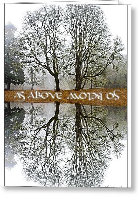 As Above So Below II Greeting Card