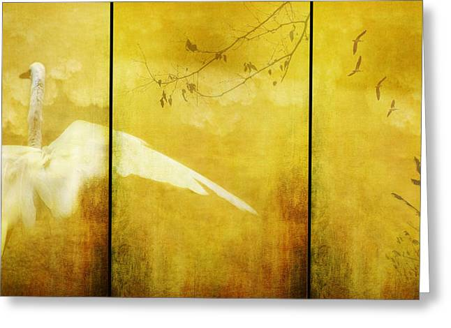 As Birds Fly Up..... Greeting Card by Margaret Hormann Bfa