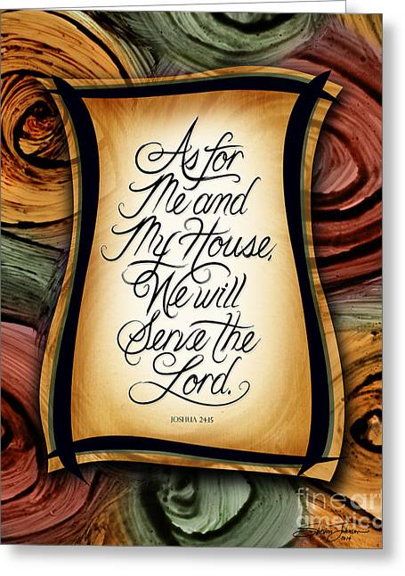 As For Me And My House 2 Greeting Card