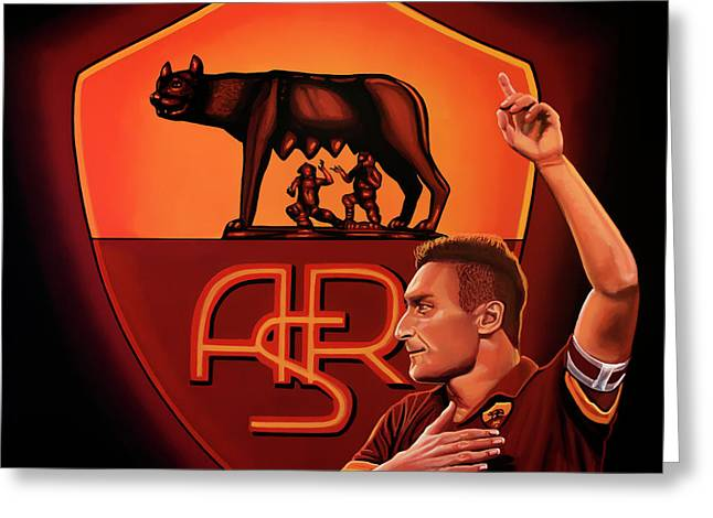 As Roma Rome Painting Greeting Card by Paul Meijering