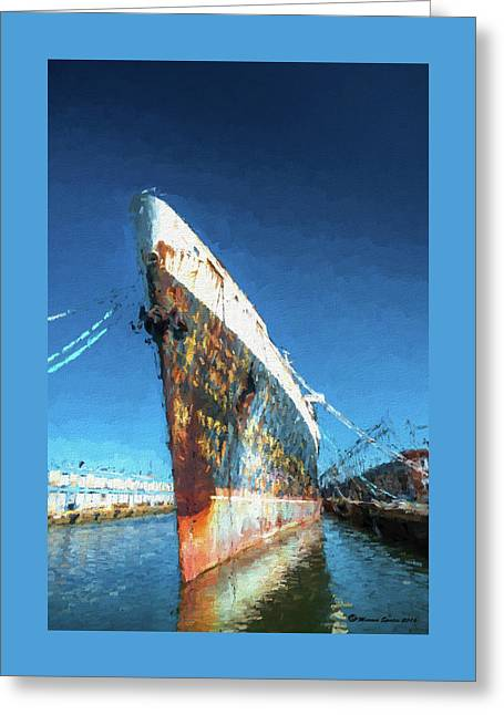 As She Rusts Away Greeting Card by Marvin Spates