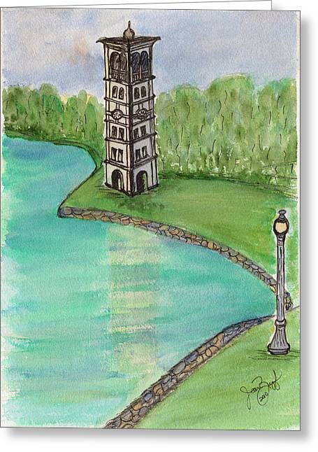 As The Bell Tolls Greeting Card