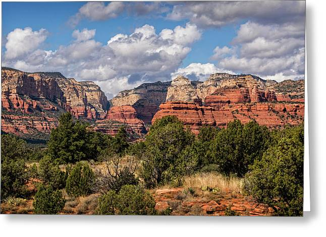 Greeting Card featuring the photograph As The Clouds Pass On By In Sedona  by Saija Lehtonen