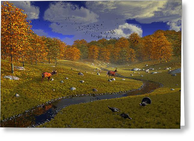 As The Leaves Will Turn Greeting Card by Dieter Carlton