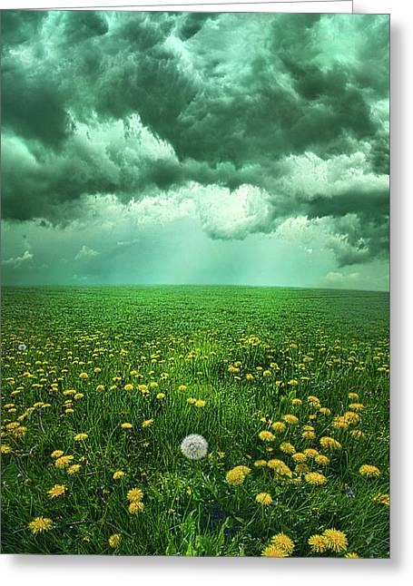 As The Roads Fade Away Greeting Card by Phil Koch