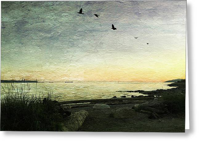 As The Sky Darkens  Greeting Card by Connie Handscomb