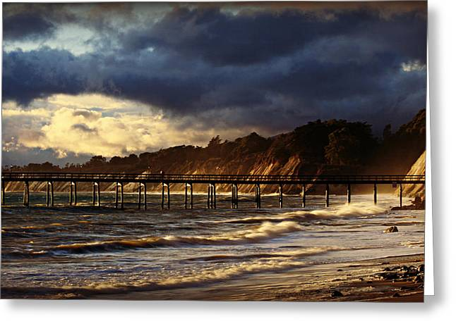 As The Storm Rolls On Greeting Card by Bill Keiran
