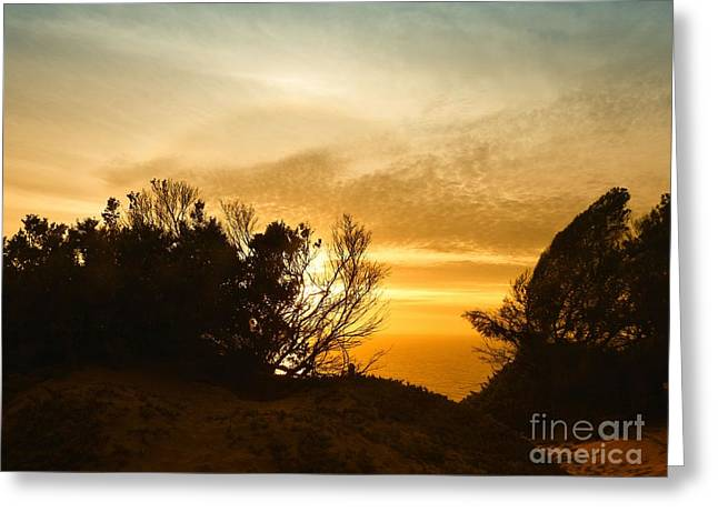 As The Sun Fades Away Greeting Card by Scott Cameron