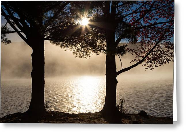 As The Sun Rises, So Does The Fog Greeting Card by Karol Livote