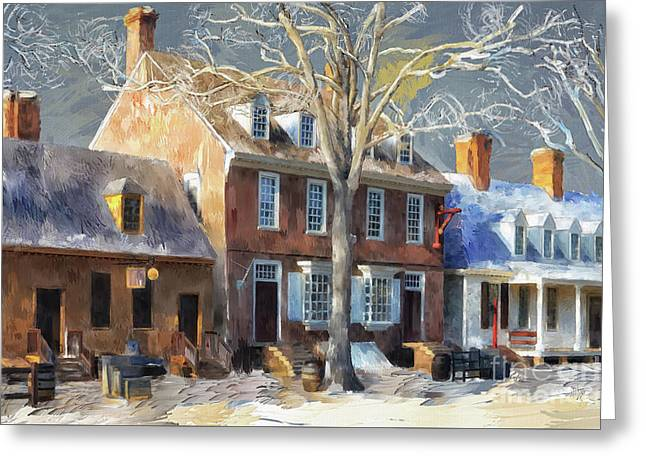 As Winter Melts Into Spring Greeting Card