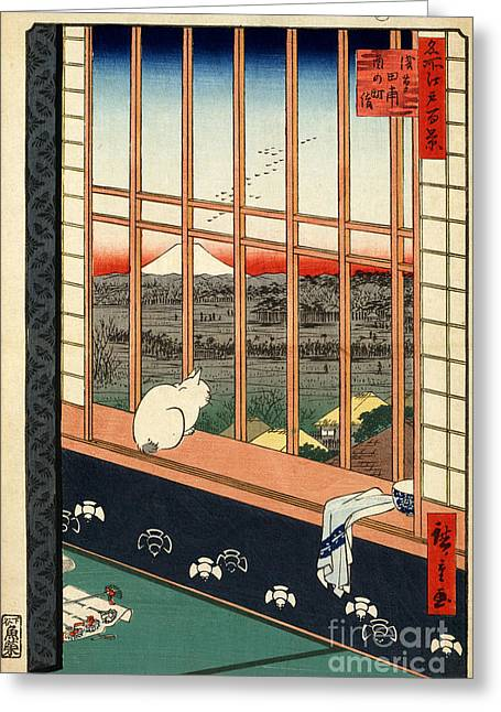 Asakusa Rice Field Greeting Card by Pg Reproductions