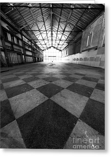 Asbury Park Casino Angles Greeting Card by John Rizzuto