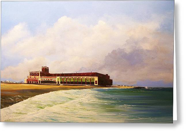 Greeting Card featuring the painting Asbury Park Convention Hall by Ken Ahlering