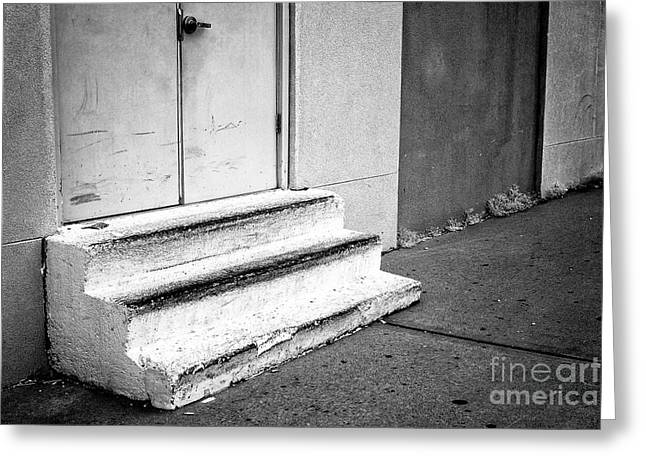 Asbury Park Stoop Greeting Card by John Rizzuto