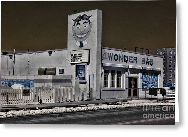 Asbury Park The Wonder Bar In Infared 1 Greeting Card by Paul Ward