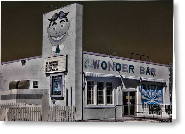 Asbury Park The Wonder Bar In Infared Greeting Card by Paul Ward