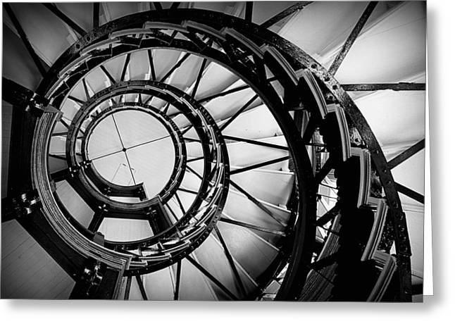 Ascend - Black And White Greeting Card