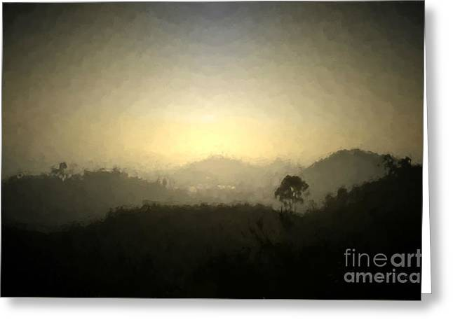 Ascend The Hill Of The Lord - Digital Paint Effect Greeting Card by Sharon Soberon