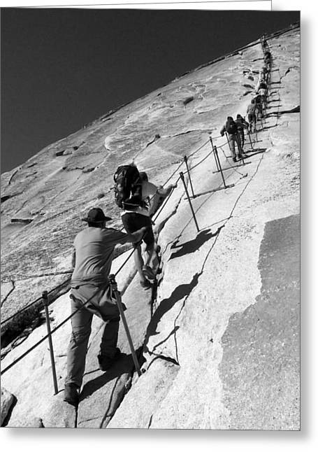 Ascending Half Dome Greeting Card by Ryan Scholl