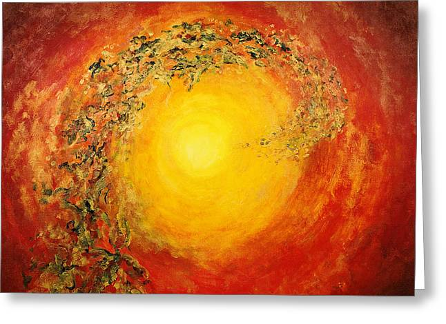 Ascending Light Greeting Card by Tara Thelen - Printscapes