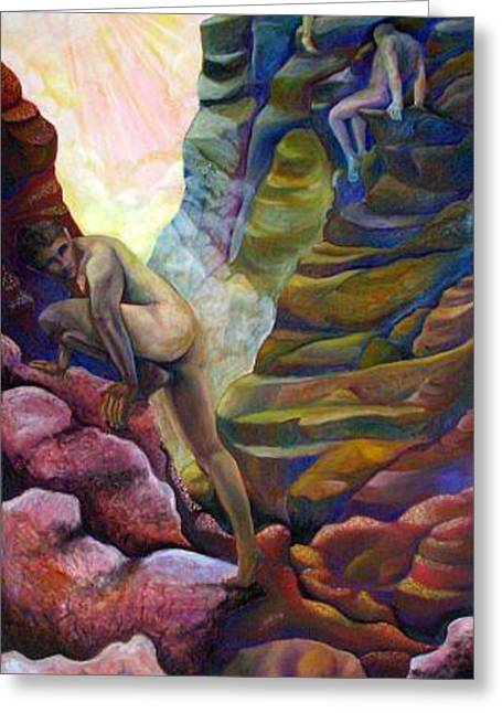 Ascending Greeting Card by Susan Clausen