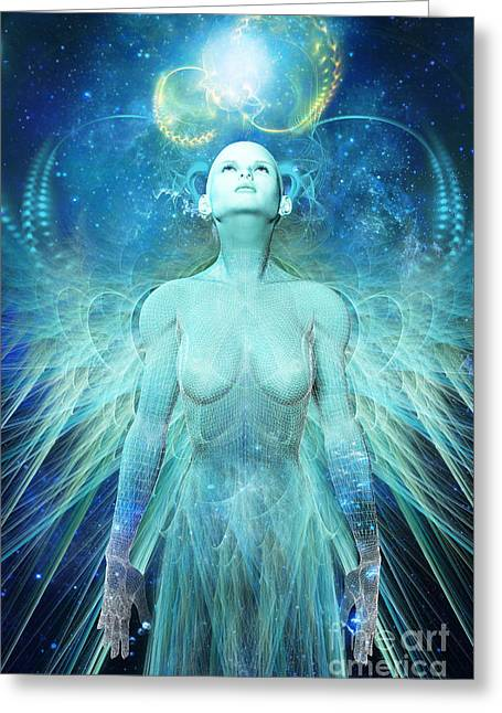 Future Dreams Greeting Cards - Ascension Greeting Card by John Edwards