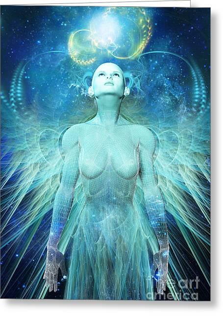 Elegance Digital Greeting Cards - Ascension Greeting Card by John Edwards