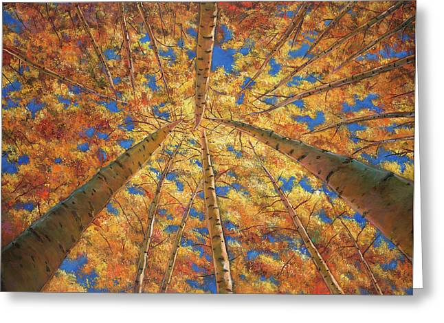 Expressionistic Greeting Cards - Ascension Greeting Card by Johnathan Harris