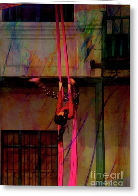 Ascension Of The Acrobat II Greeting Card by Al Bourassa