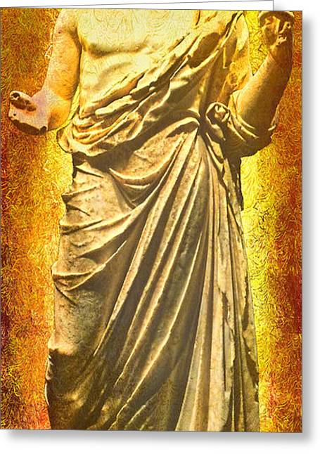 Greeting Card featuring the photograph Asclepius Descending by Nigel Fletcher-Jones