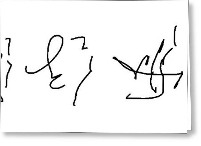 Asemic Writing 02 Greeting Card