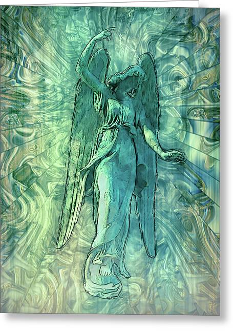 Ascending Angel 2016 Greeting Card by Jack Zulli
