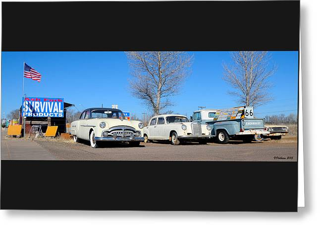 Ash Fork Vintage Cars Along Historic Route 66 Greeting Card