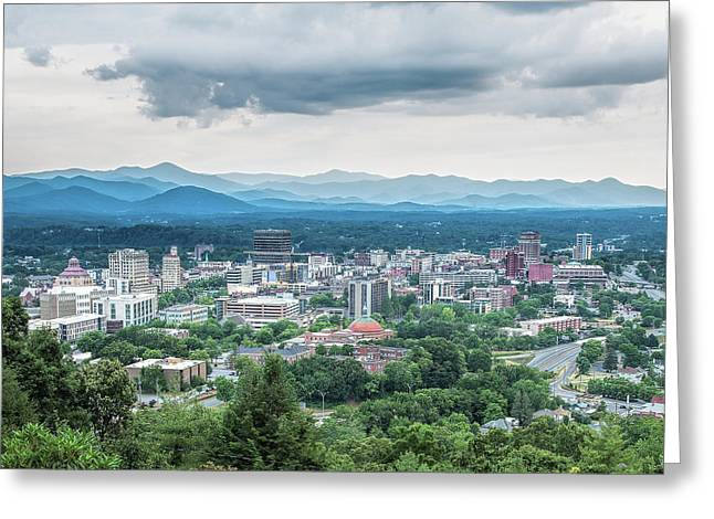 Asheville Afternoon Cropped Greeting Card