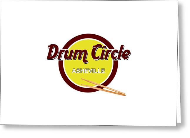 Asheville Drum Circle Logo Greeting Card