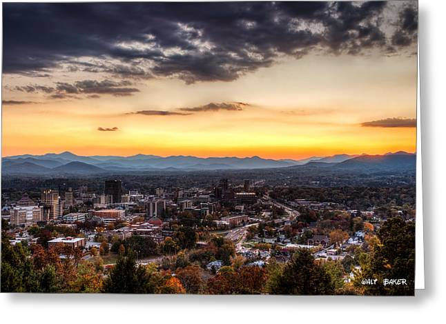 Asheville From Above Greeting Card
