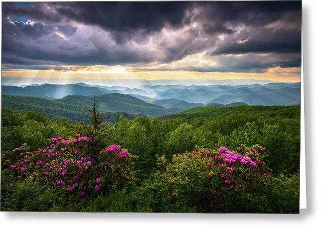 Asheville Nc Blue Ridge Parkway Scenic Landscape Photography Greeting Card